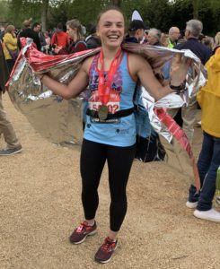 InBalance athlete completing her 1st marathon at London, 2019