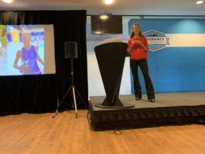 Chrissie Wellington opening the Endurance Summit
